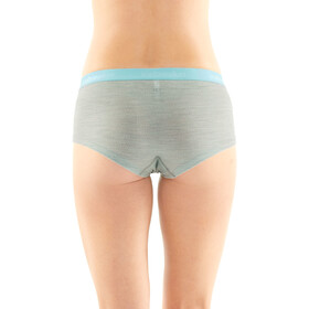 Icebreaker Sprite Hot Pantalons Femme, blizzard heather/aqua splash/stripe